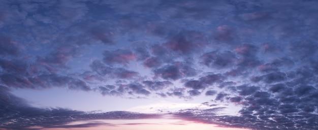 O świcie niebo, promienie słońca i sny, poranna panorama.