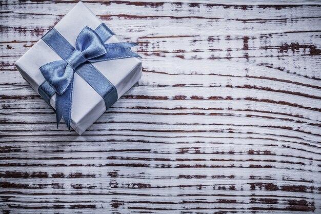 Obecne pudełko na kartkę z życzeniami rocznika drewno deska