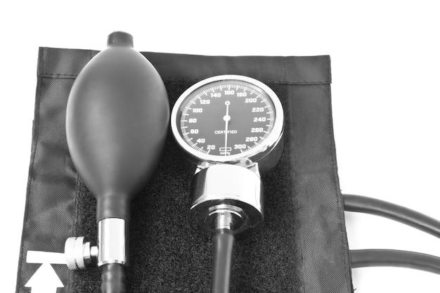 Obiekt medycyny. ciśnienie krwi na białym tle