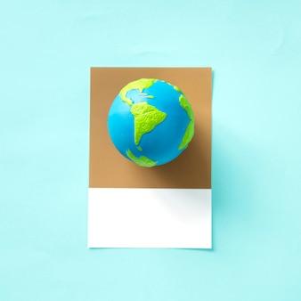 Obiekt zabawka globu planety ziemi