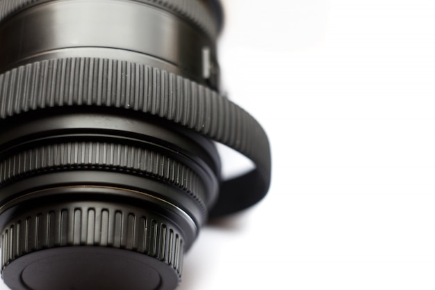 Obiektyw fotograficzny slr z rozciągniętym czasem, gumowy pierścień