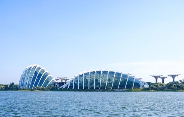 Obłoczny lasowy kopuły środowisko przy ogródami zatoką tropikalny las, singapur