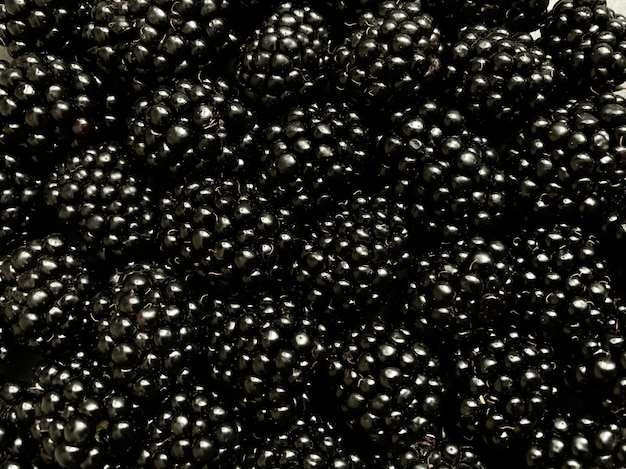 Obracanie się wokół osi tekstury tła z dużej liczby jeżyn. naturalne tło jagodowe.