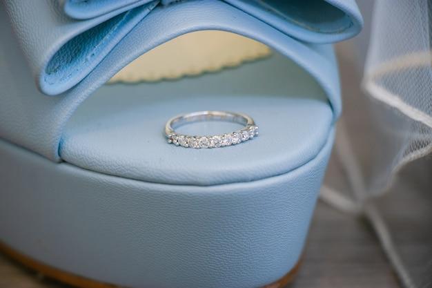 Obrączka ślubna panny młodej