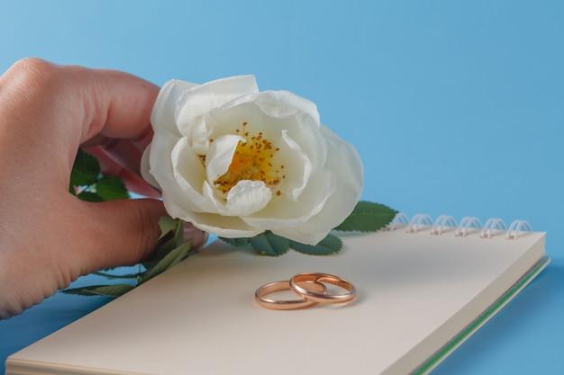 Obrączki i dzika róża