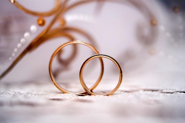 Obrączki ślubne z bliska
