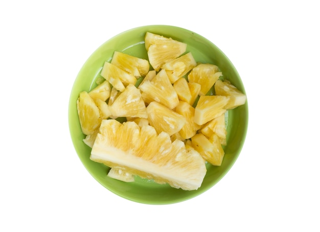 Obrane ananas w sezonie letnim na białym tle