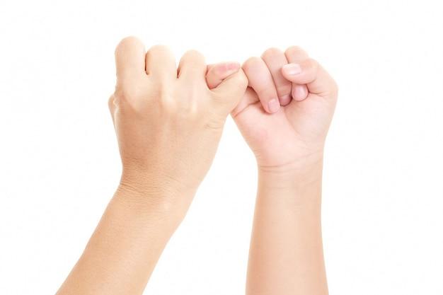 Obraz bądź ręka w rękę z mamą i synem