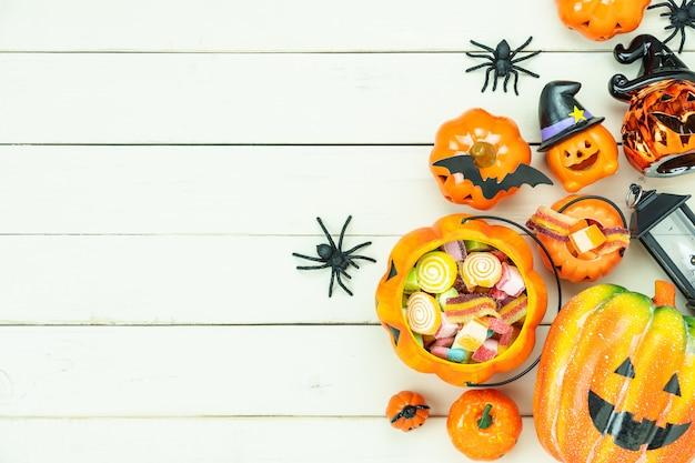 Obraz dekoracji happy halloween dzień tło wakacje koncepcji.