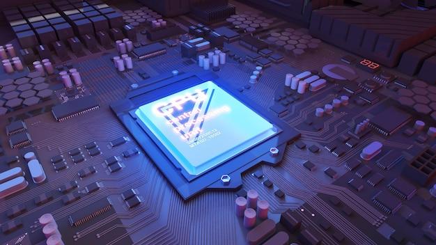 Obraz jednostki centralnejdziałająca technologia przetwarzaniatechnologia komputerowa w pracy