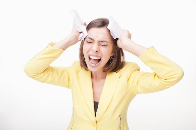 Obraz kobiety biznesu w stresie