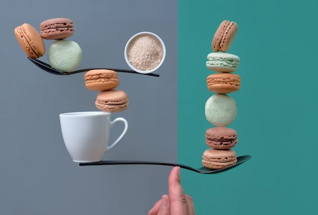 Obraz koncepcyjny idealnej równowagi między dwoma zagadnieniami