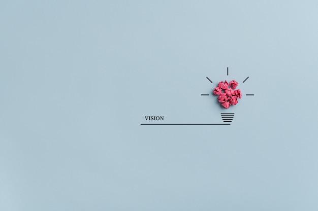 Obraz koncepcyjny wizji, pomysłu i innowacji