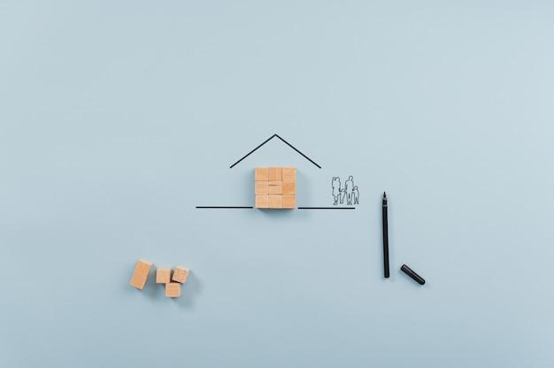 Obraz koncepcyjny własności domu i ubezpieczenia