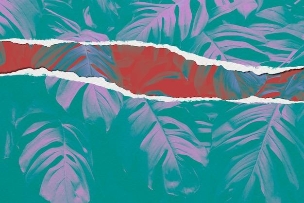 Obraz liścia w stylu rozdartego papieru