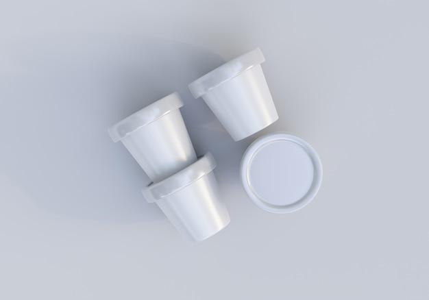 Obraz makieta opakowania słoika do lodów na białym tle