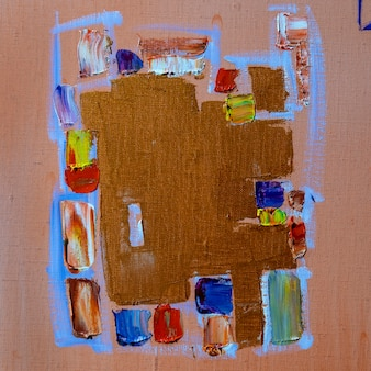 Obraz olejny abstrakcyjny rysunek ręcznie robiony
