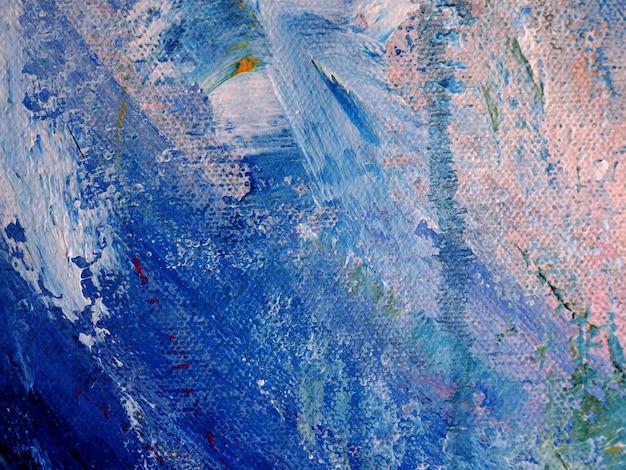 Obraz olejny na brezentowym abstrakcjonistycznym tle z teksturą.