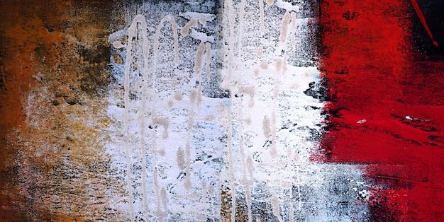 Obraz olejny na płótnie abstrakcyjny z teksturą panorama.
