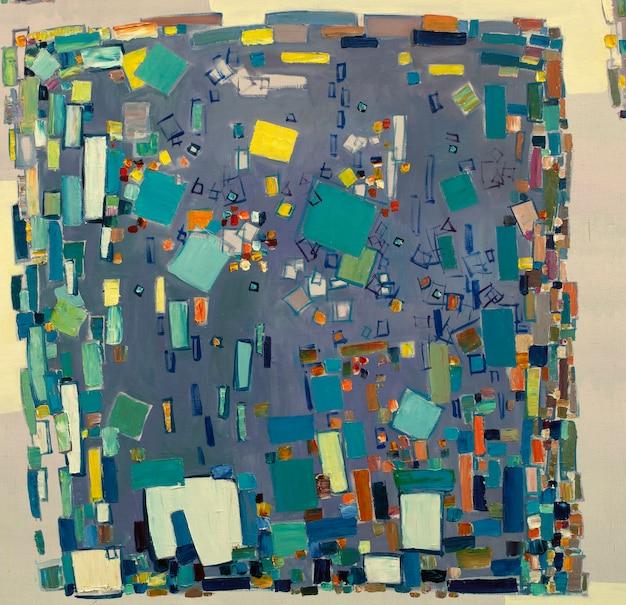 Obraz olejny streszczenie zbliżenie obrazu kolorowe abstrakcyjne tło malarstwa