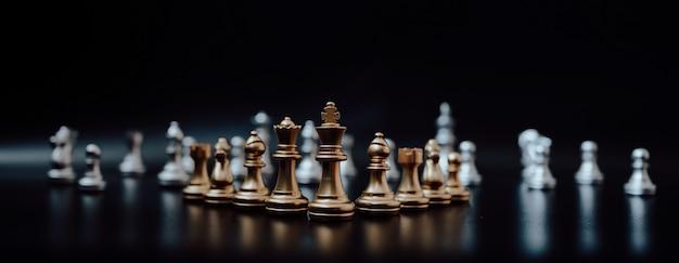 Obraz panoramiczny, szachowa gra planszowa
