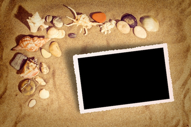 Obraz tła na plaży