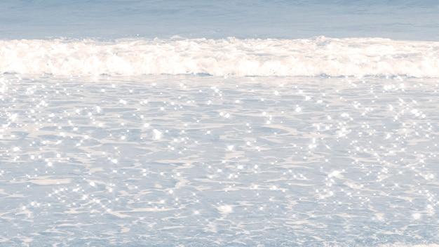 Obraz tła szarej plaży fale