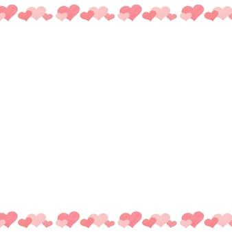 Obraz w tle z paskami serca powyżej i poniżej