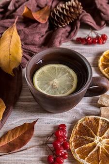 Obraz z herbatą.