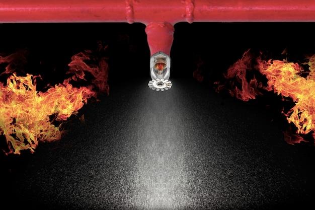 Obraz zraszaczy przeciwpożarowych