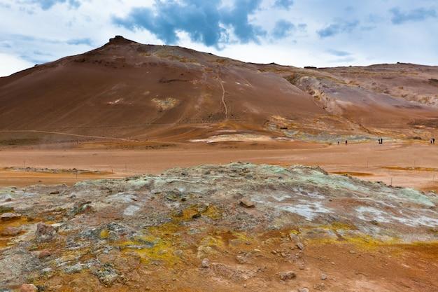 Obszar geotermalny hverir, islandia