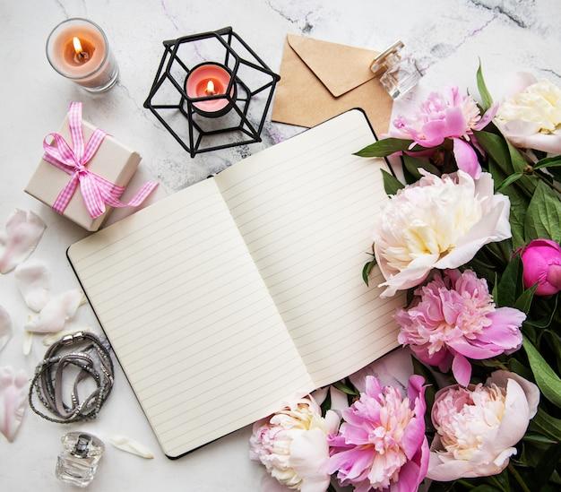 Obszar roboczy blogger lub freelancer