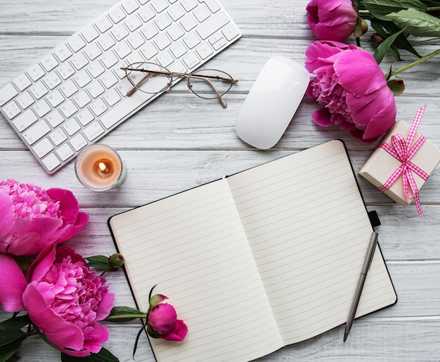 Obszar roboczy bloggera lub freelancera