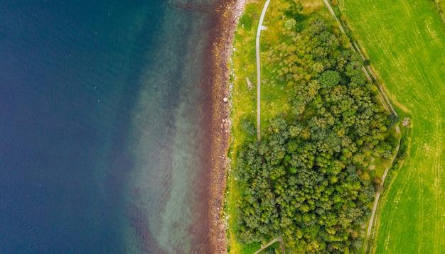 Obszarowy widok wyspy