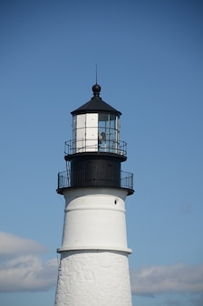Ocean shore lampa maine lighthouse beach światło