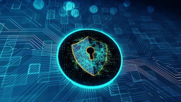 Ochrona danych cyber security concept.