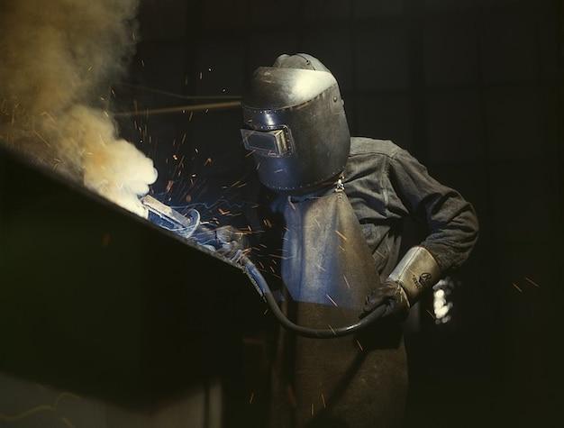 Ochrona stali gorąco spoiny twarz spawacza przemysł