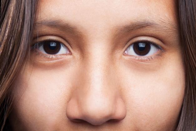 Oczy bliska