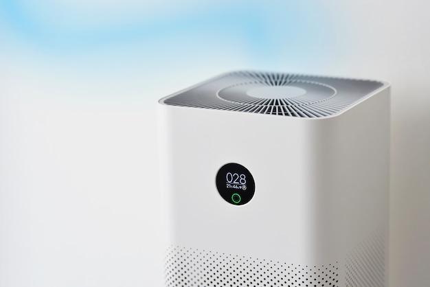 Oczyszczacz powietrza w sypialni oczyszczacz powietrza usuwa drobny kurz w domu