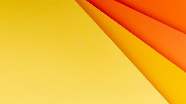 Odcienie płaskich pomarańczowych odcieni
