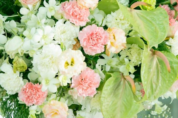 Oddziały piękne kwiaty bukiet ślubny dekoracji