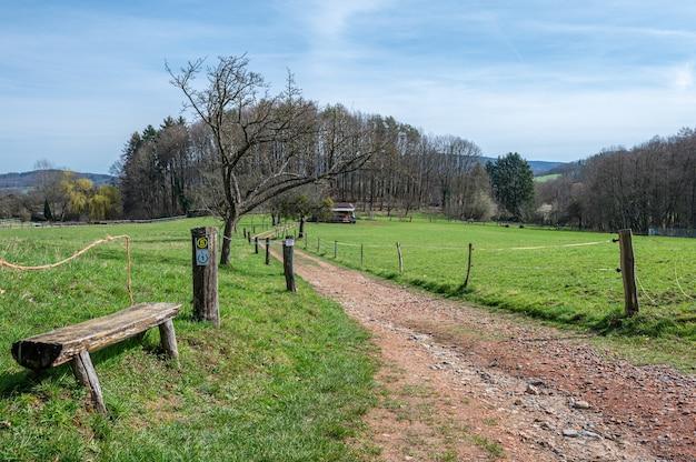 Odenwald ma wiele ławek z pięknymi widokami