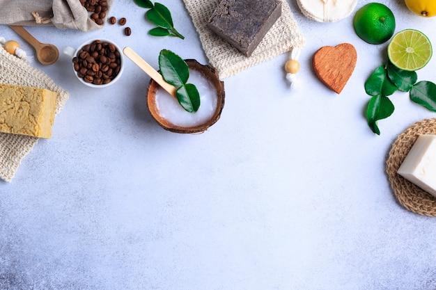 Odgórna grafika niemarkowych naturalnych produktów do kąpieli