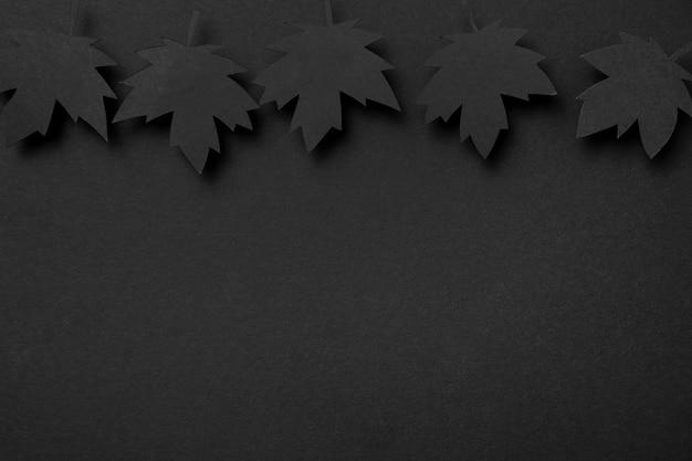 Odgórnego widoku jesieni liści skład z kopii przestrzenią