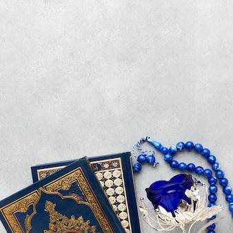 Odgórnego widoku nowego roku islamski pojęcie z kopii przestrzenią