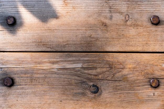 Odgórnego widoku tekstury natury rdzy rocznika drewniany tło