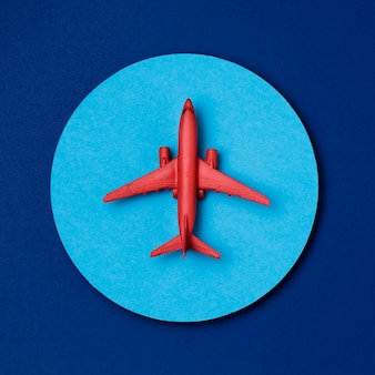 Odgórnego widoku turystyki światowej dzień samolot