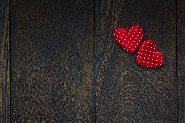Odgórnego widoku valentines dnia tło i dekoracje.