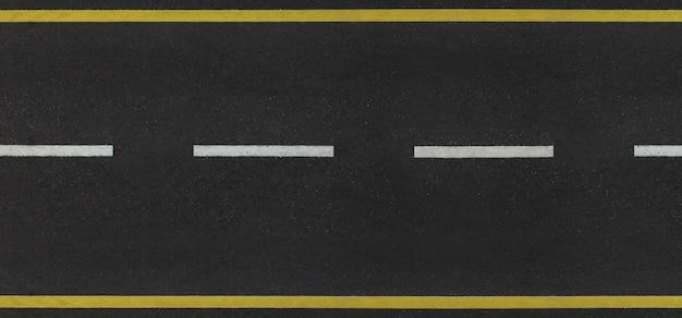 Odgórny widok asfaltowa droga