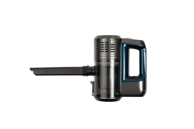 Odkurzacz akumulatorowy. ręczny odkurzacz przenośny samodzielnie na białym tle.